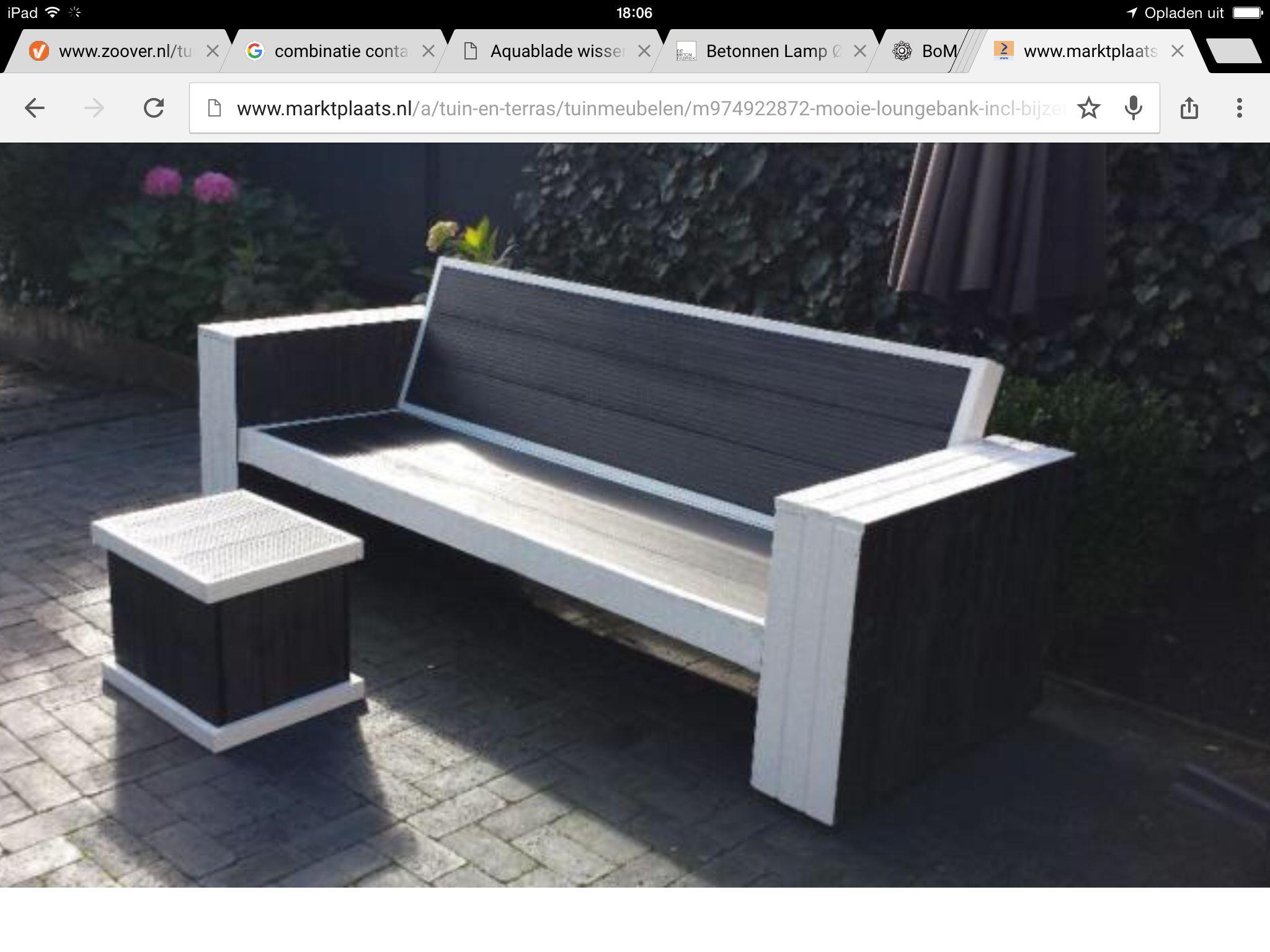 Loungebank composiet en hout loungebank tuin pinterest