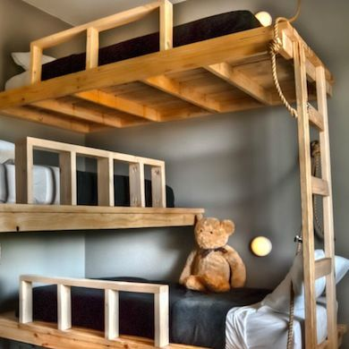 Free Plans For Triple Bunk Beds additionally Triple Bunk Bed Building ...