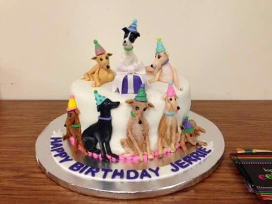 Amazing Greyhound Cake Italian Art Dog Cupcakes Cupcake Icing