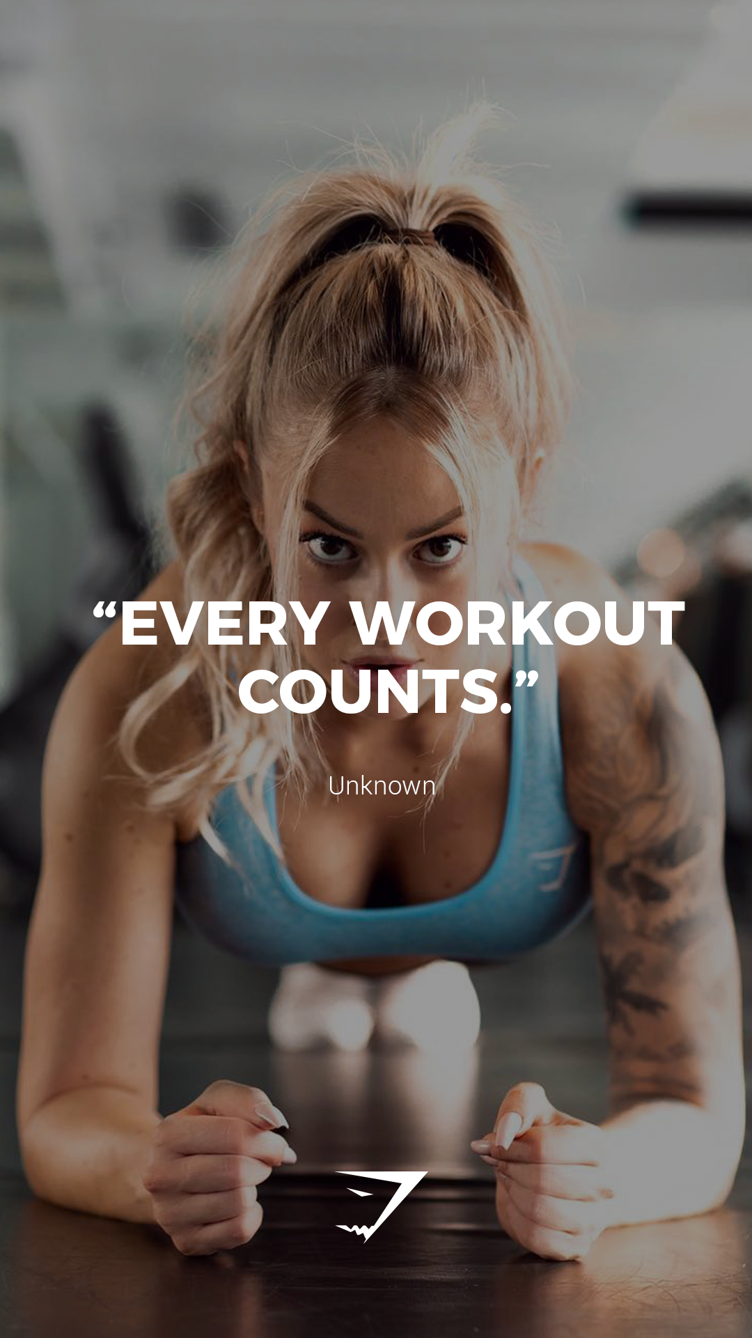"""""""Every workout counts."""" - Gymshark. #Gymshark #Quotes #Motivational #Inspiration #Motivate #Phrases..."""