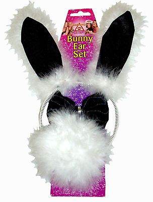 Hen Night Party Bunny Set - Ears, Bowtie and Tail - Fancy Dress Accessories