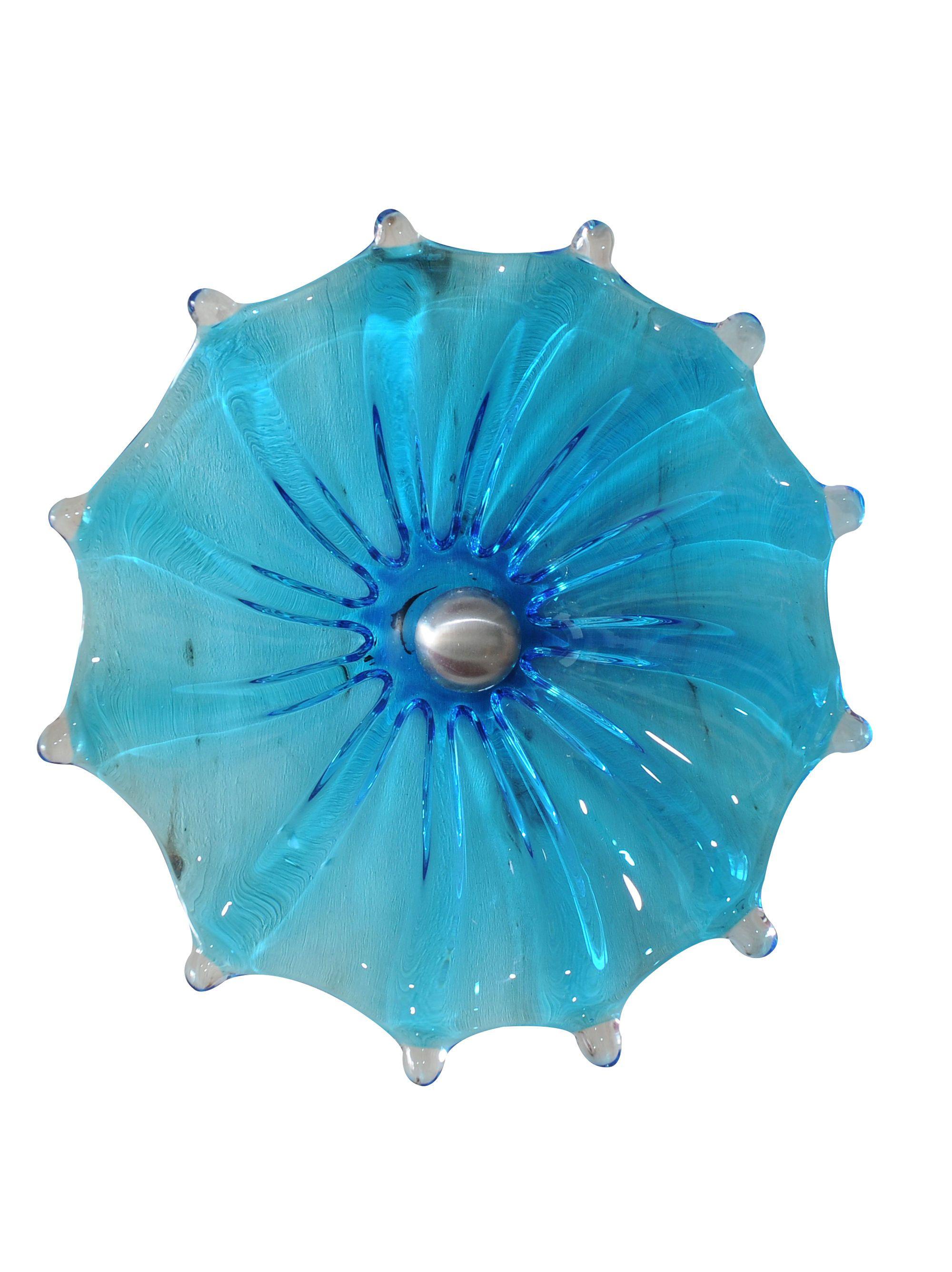 """Viz Glass Fence Flower, 9""""   Glass Flower Art   Gardeners.com"""