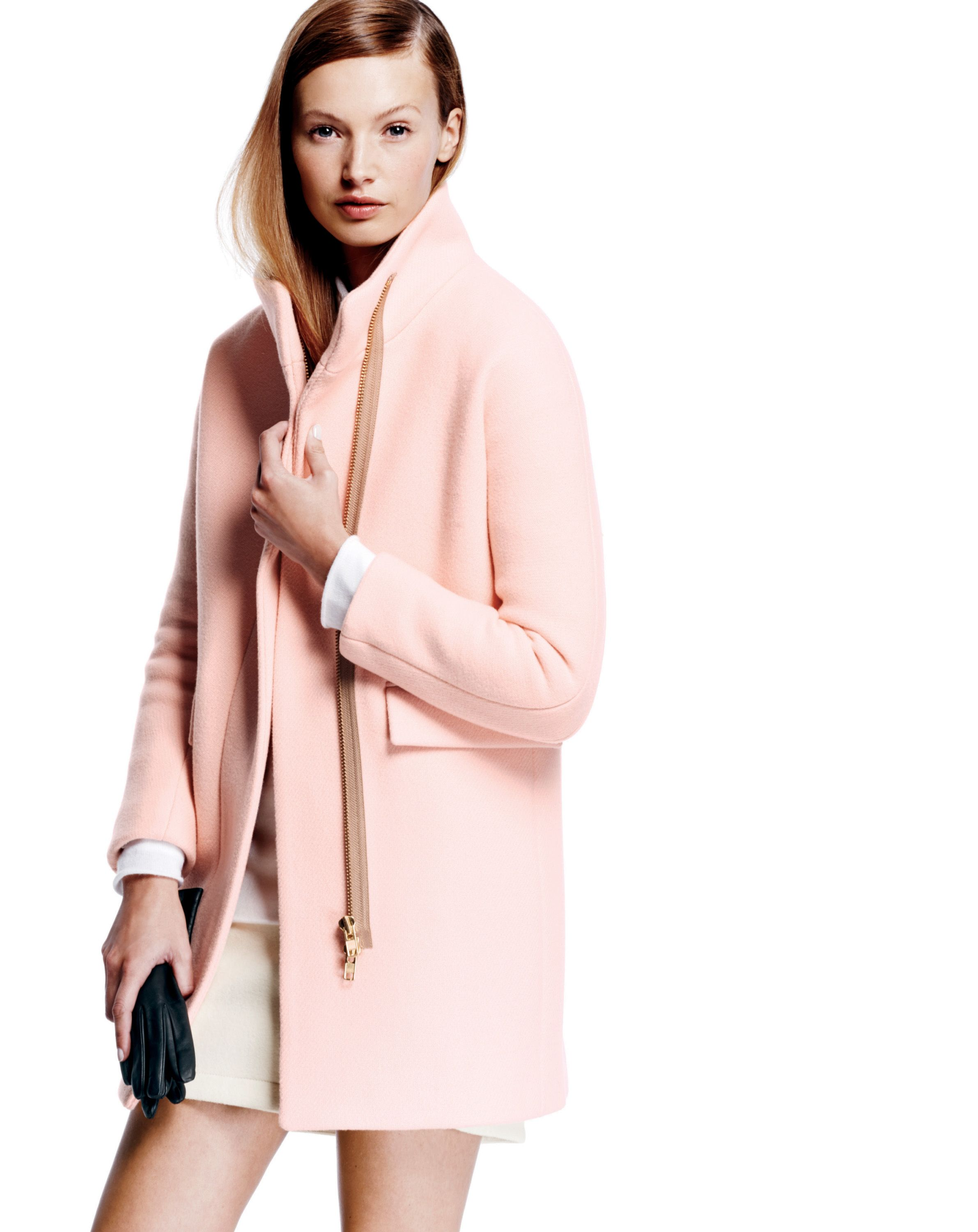 J.Crew stadium cloth cocoon coat...more causal than winter trench ...