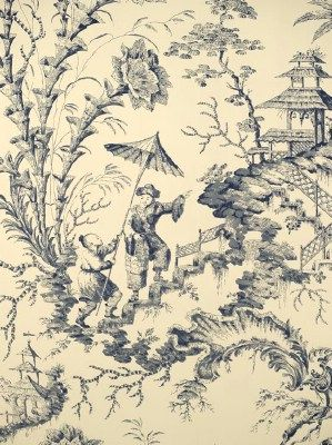 DecoratorsBest - Detail1 - Scala WP81561-002 - Pillement Toile - Toile Blue - Wallpaper - DecoratorsBest