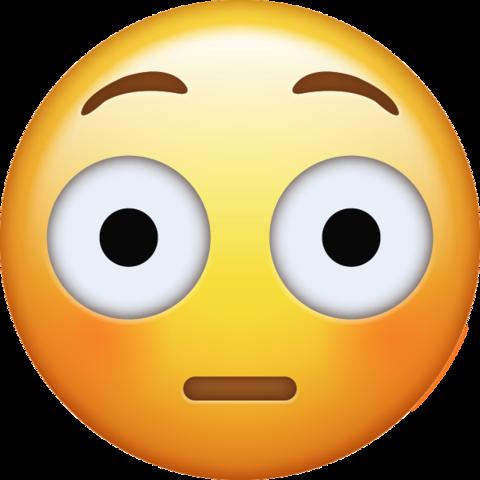 Flushed Emoji [Download iPhone Emojis] Emoji, Ios emoji