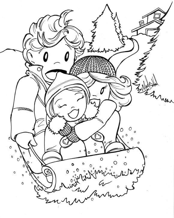 Coloring Pages Winter Fun Kids color page Pinterest Winter