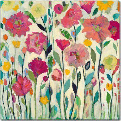trademark art 'she lived in full bloom' painting print on