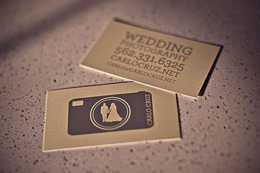 Wedding Photography Business Card - Wedding Photography business card for Carlo Cruz. The combination of great quality for an affordable price makes this printing company the perfect choice for small businesses.