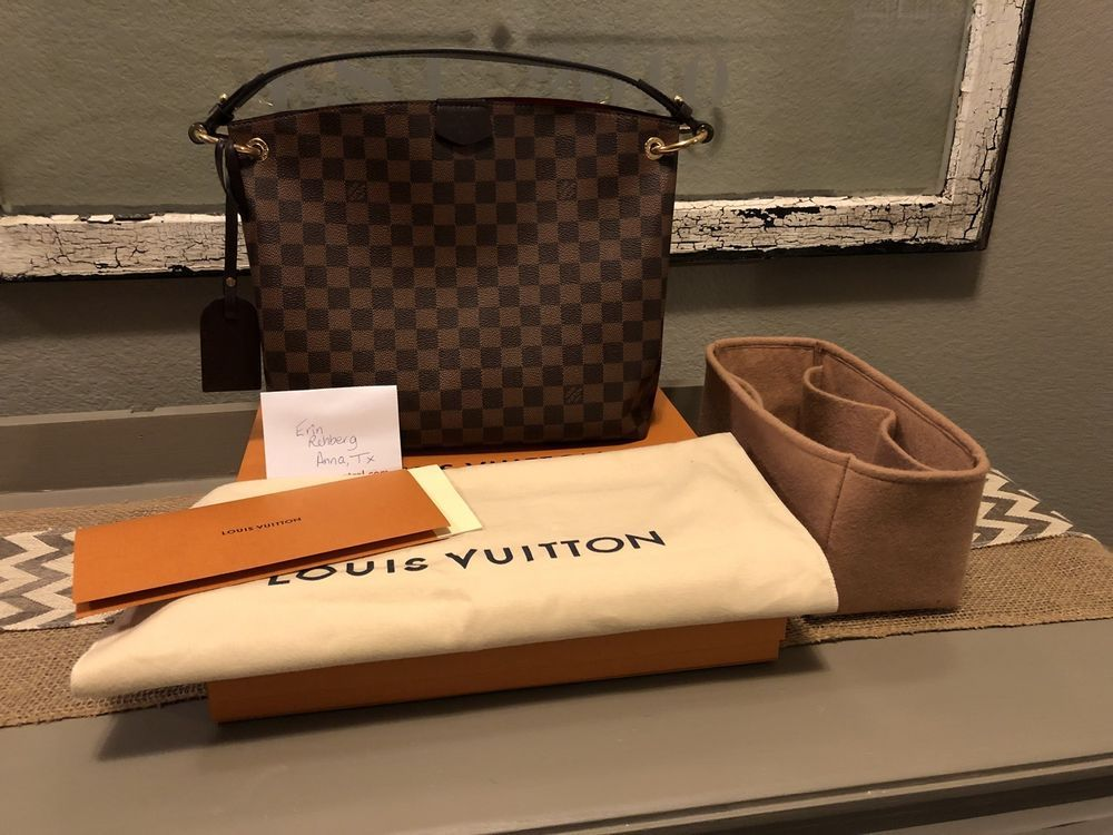 5c1020c3054 fashion Louis Vuitton Graceful PM Damier Ebene Shoulder Purse ...