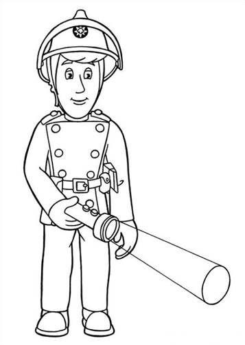 malvorlage feuerwehrmann sam feuerwehrmann sam (mit