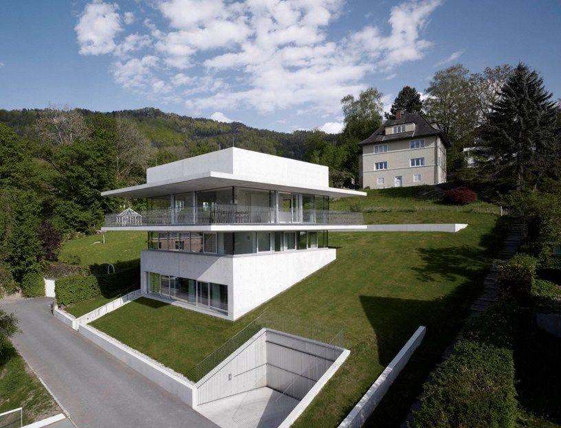 Fachadas de casas de dos pisos para terreno inclinado casa pinterest house house design y - Casa con terreno ...