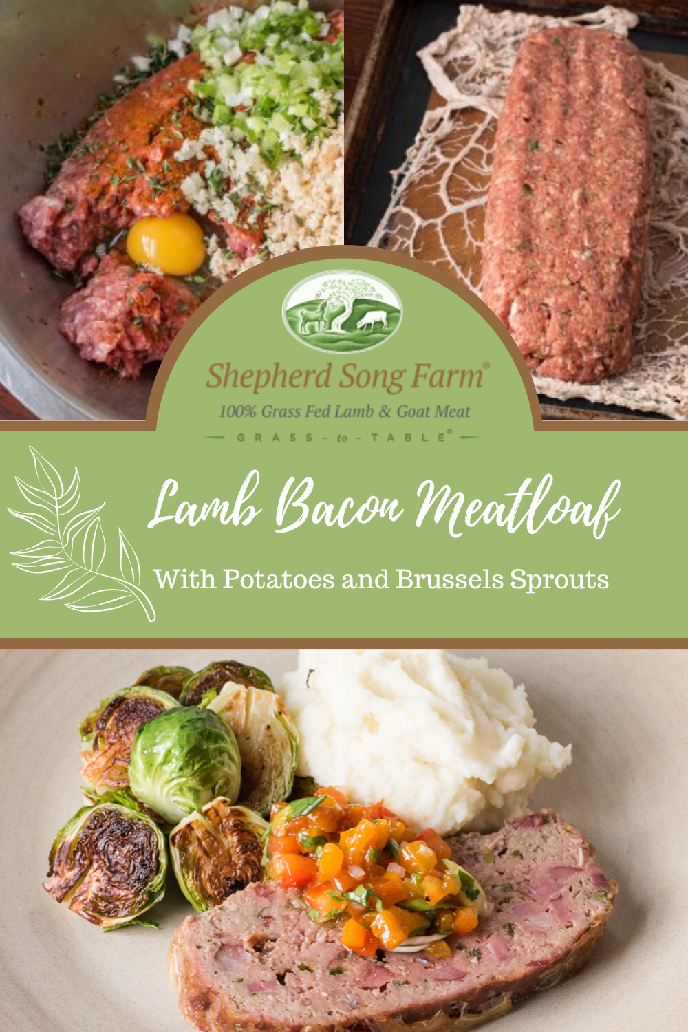 Lamb And Goat Bacon Meatloaf Shepherd Song Farm Recipe In 2020 Lamb Meatloaf Lamb Bacon Lamb Recipes