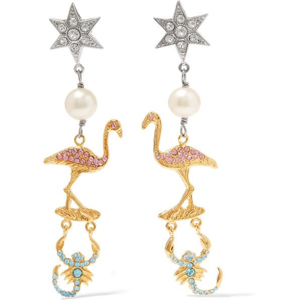 Daisy earrings with crystals - Multicolour Miu Miu