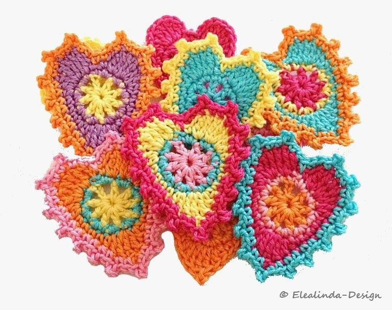 Elealinda-Design: Freebies | Häkeln Herz Crochet Heart | Pinterest ...