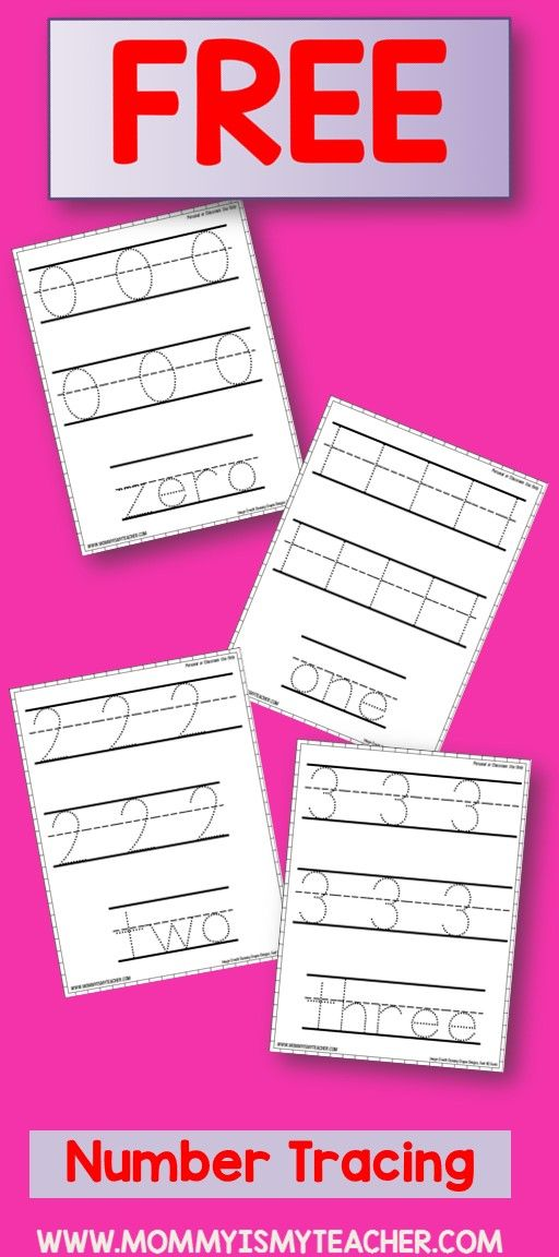 Love these free number tracing preschool printables! | Toddler theme ...