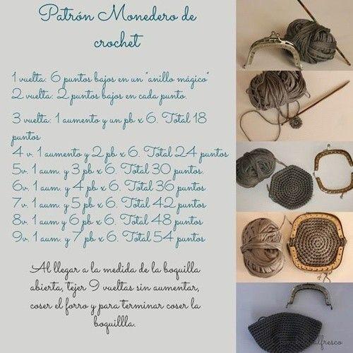Monederos de crochet: Fotos de diseños y patrones   Crochet ...