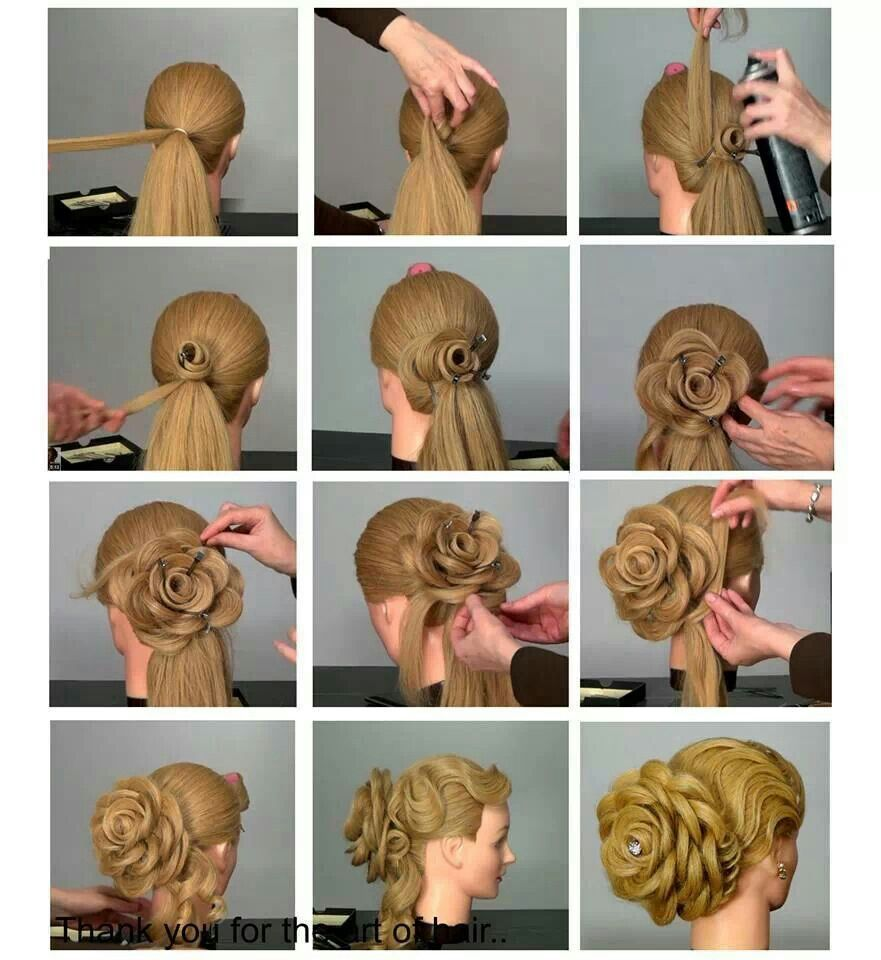 Pin By Alecia Pennington On Hair Flowers In Hair Hair Tutorial Hair Styles