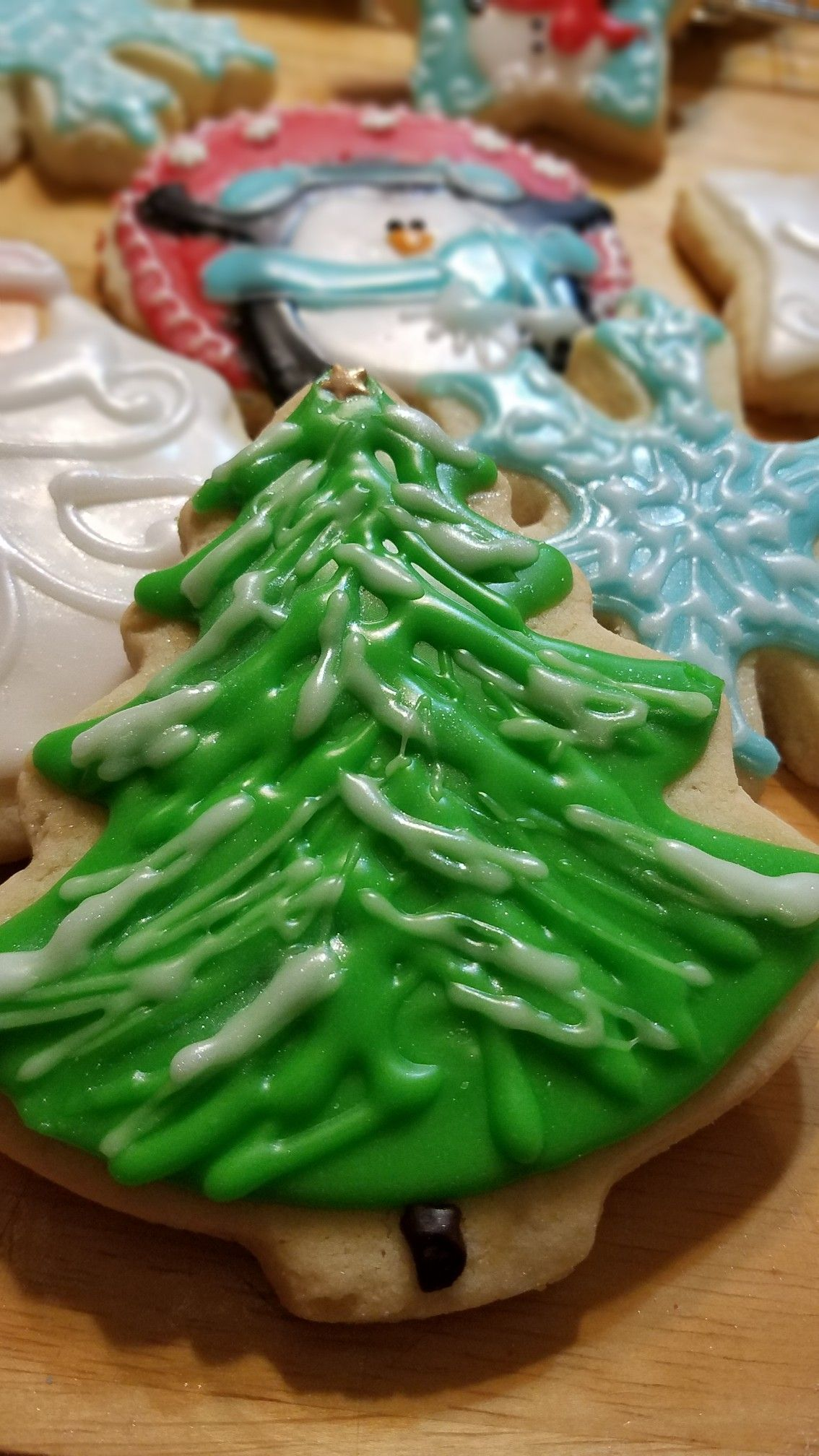 Sugar Cookie Tree With Snow Mommayates Mysweetsbaking M Y