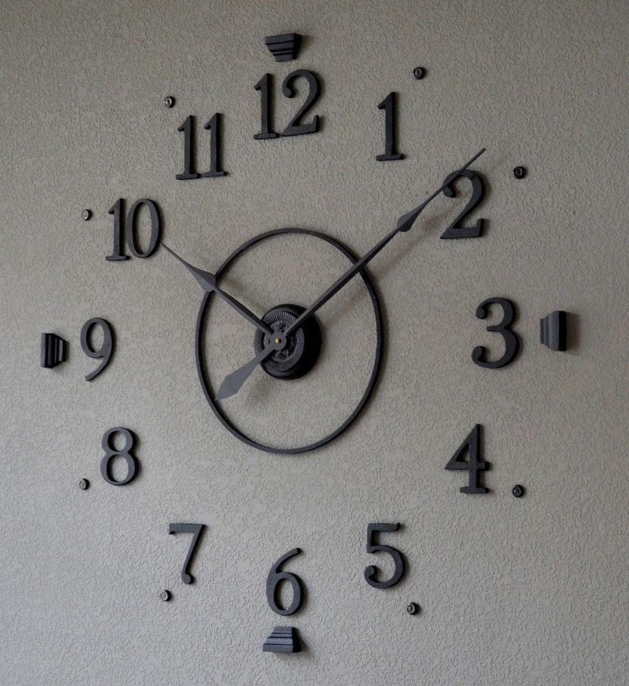Large wall clock kit home decor living room pinterest wall large wall clock kit amipublicfo Images