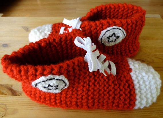 Reserved for Cory - 5 Pairs Handmade Knit Converse ...