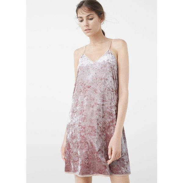 MANGO Velvet Dress featuring polyvore 968893c1c
