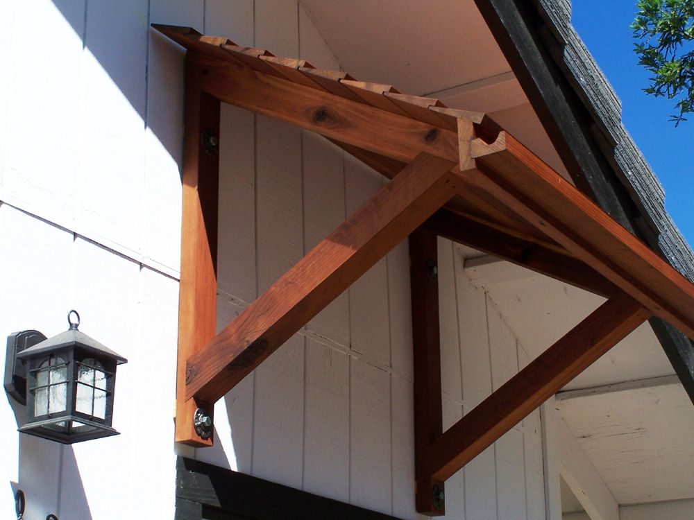 Stunning Wood Door Awning Plans  For Inspirational Home Decorating With Wood Door Awning Plans