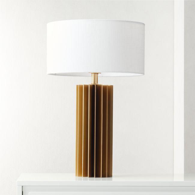 Leiden Brushed Brass Table Lamp Reviews Cb2 Brass Table Lamps Table Lamp Modern Table Lamp