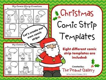 christmas comic strip template  Christmas Creations (Comic Strip Template Set) | Comic strip ...