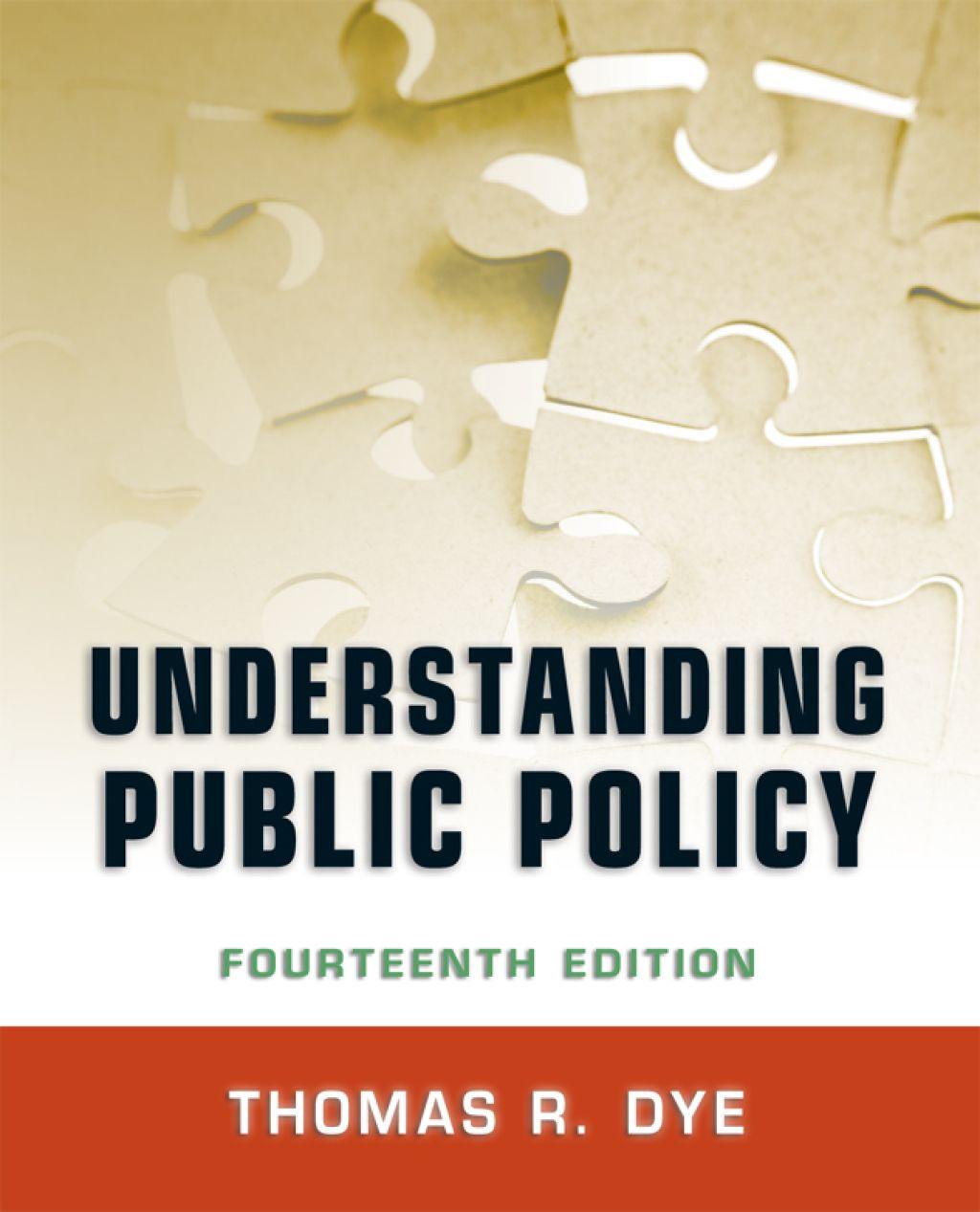 Understanding Public Policy Ebook Rental Public Textbook