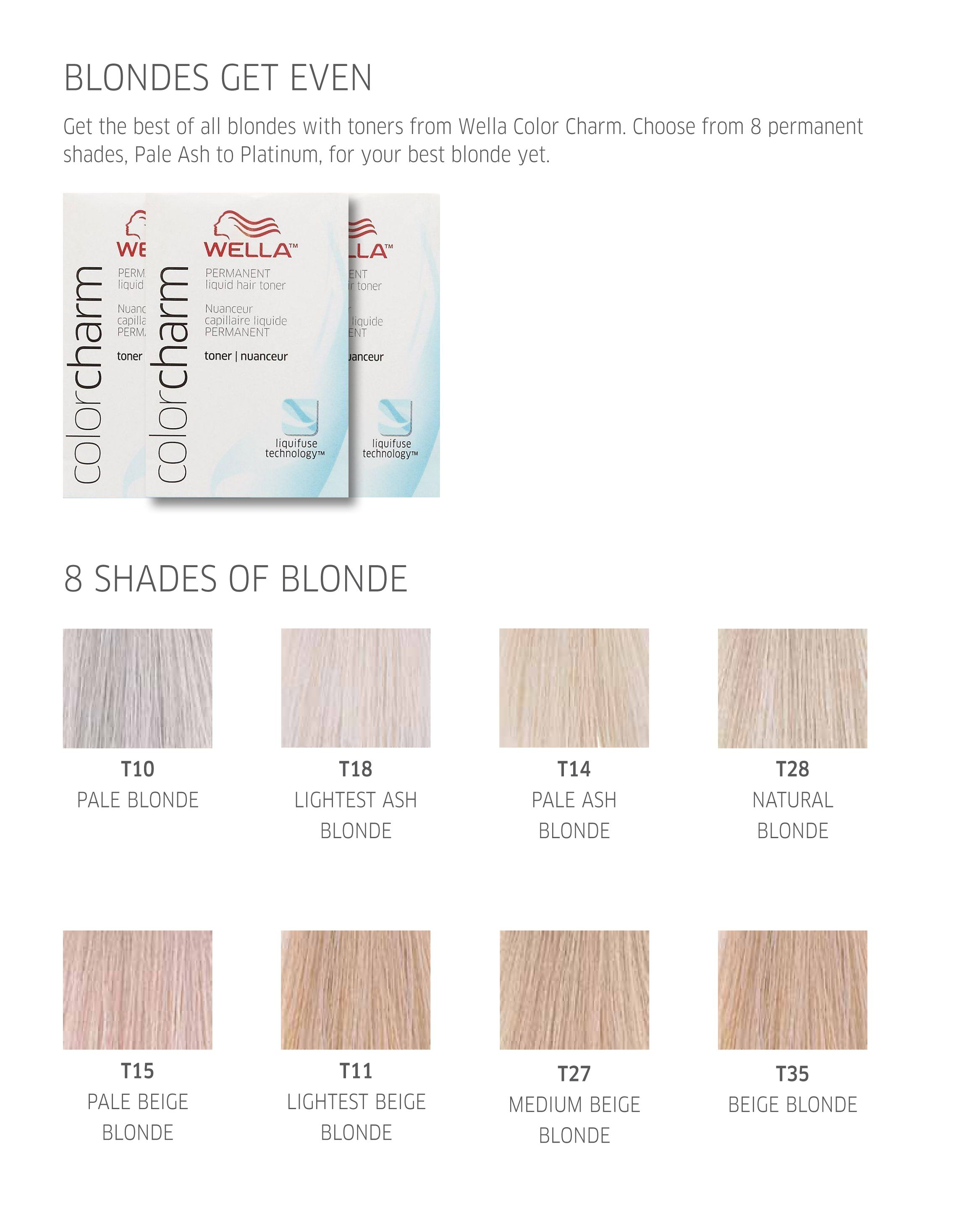 Wella Color Charm Blondes Get Even Blonde Hair Color Wella