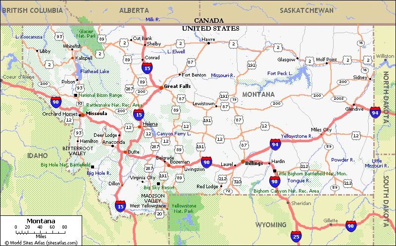 Montana Map On Our Way To Dillon Montana Via I 15 Where I Ve