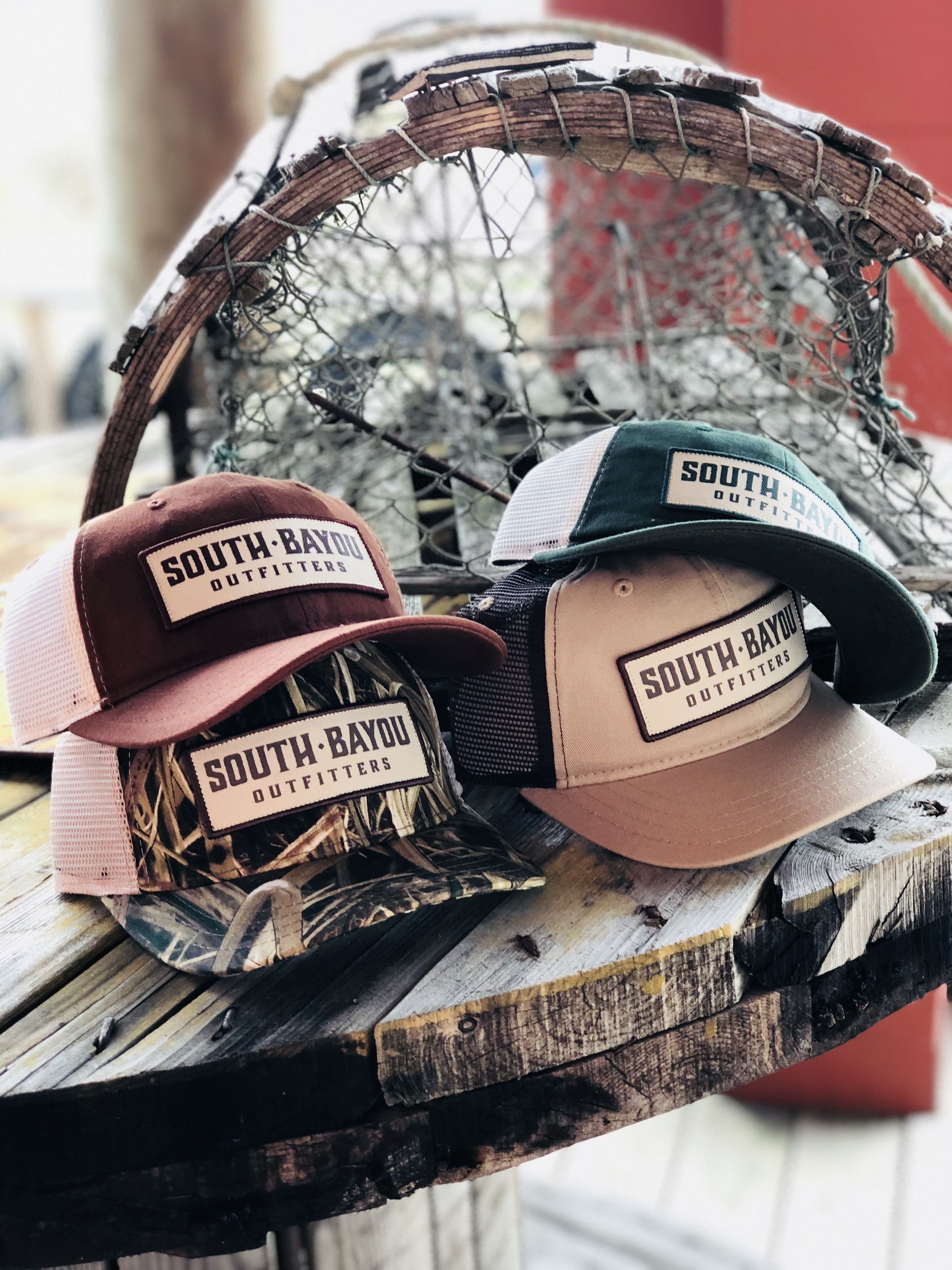 375a561fe3d Southbayou hats headwear outdoor apparel southern style Cajun oldsouth  snapback camo patch
