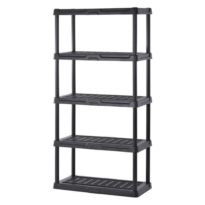 Muscle Rack 5 Shelf Plastic Garage Shelving Plastic Shelves Shelves Plastic Garage Shelving