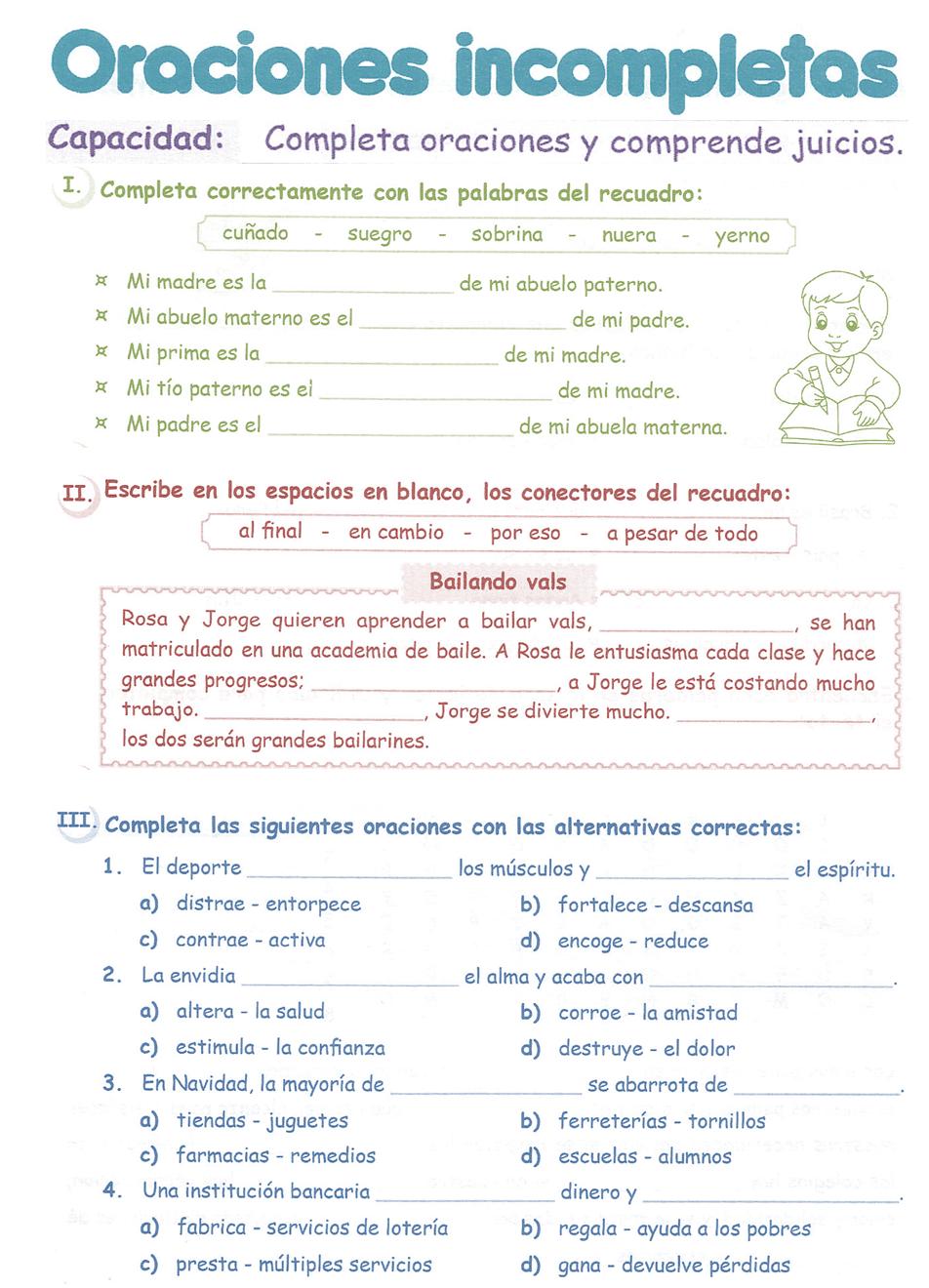 oraciones-incompletas3°+primaria.png 952×1,320 pixels   Language ...