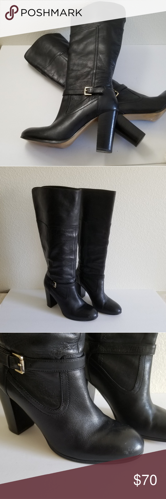 38a740bc7fa Audrey Brooke Women s Black Leather Boots Size 10 Audrey Brooke Women s  Black Leather Knee High Boots Size 10M. Pre-owned good condition.