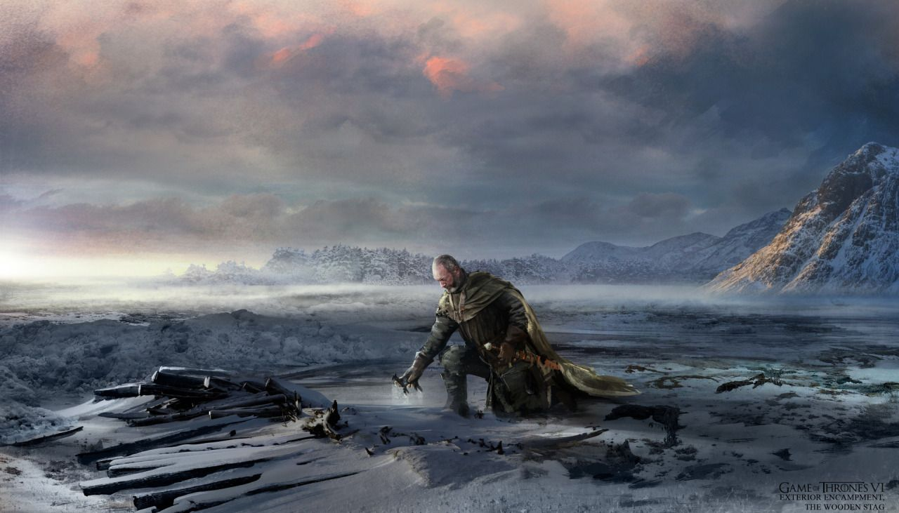 Melancholic Illustration The Mourning Of Davos For Shireen By