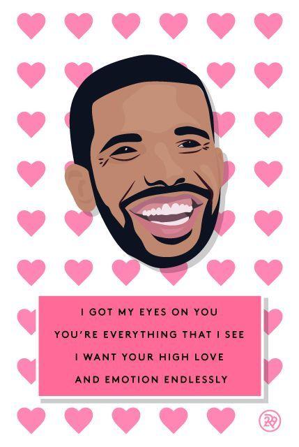 11 Valentineu0027s Cards, Set To Drake Lyrics Drake lyrics, Creepy - valentines day cards