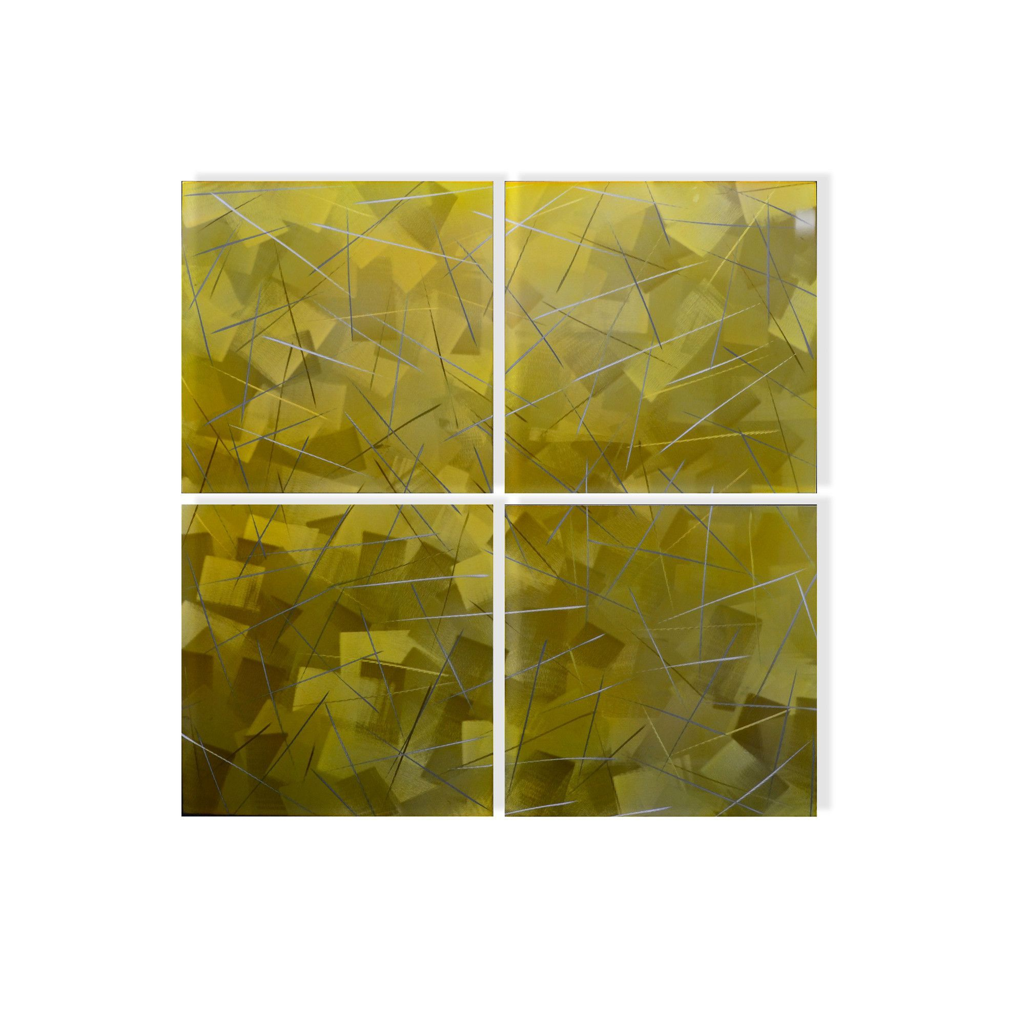 Gilded Squares 4 Piece Graphic Art Plaque Set | Graphic art, Squares ...