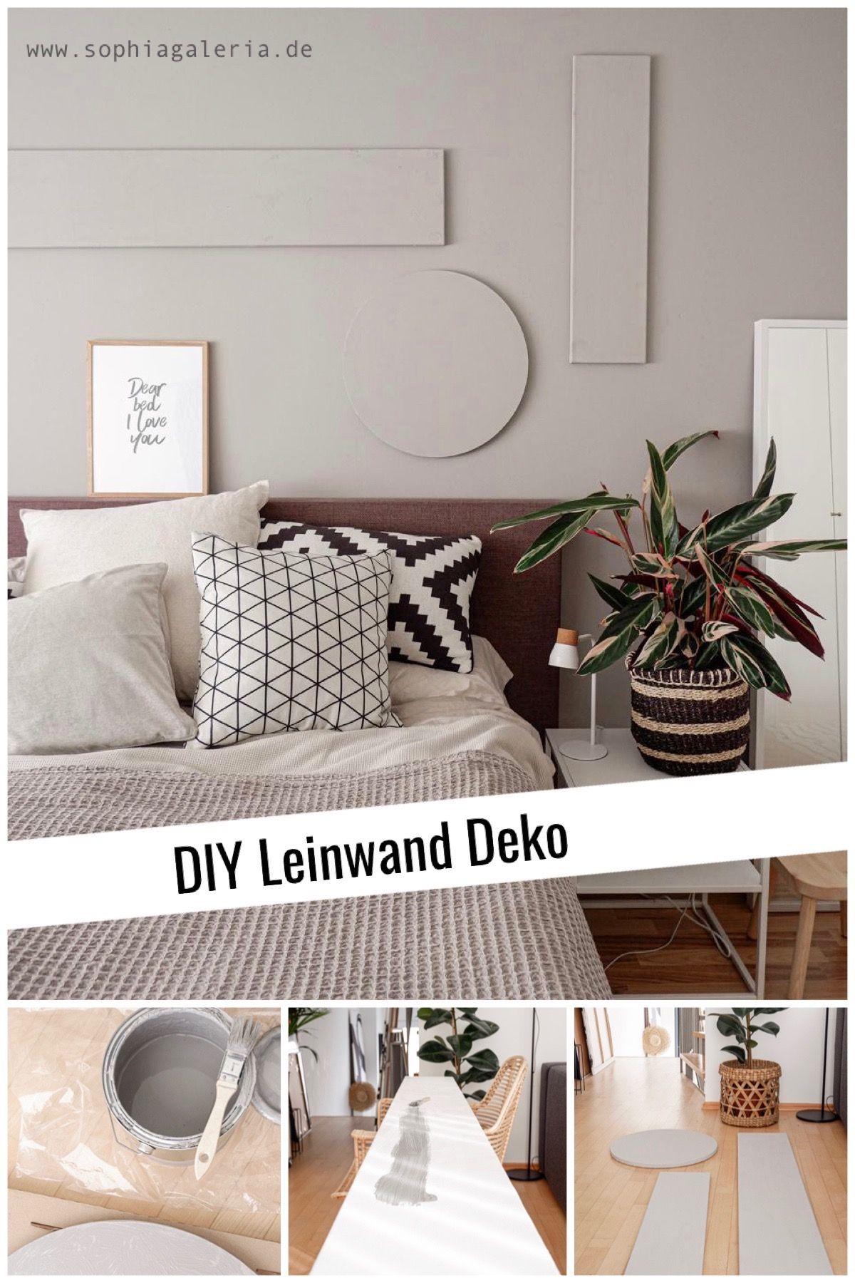 DIY Leinwand Deko mit Wandfarbe - sophiagaleria