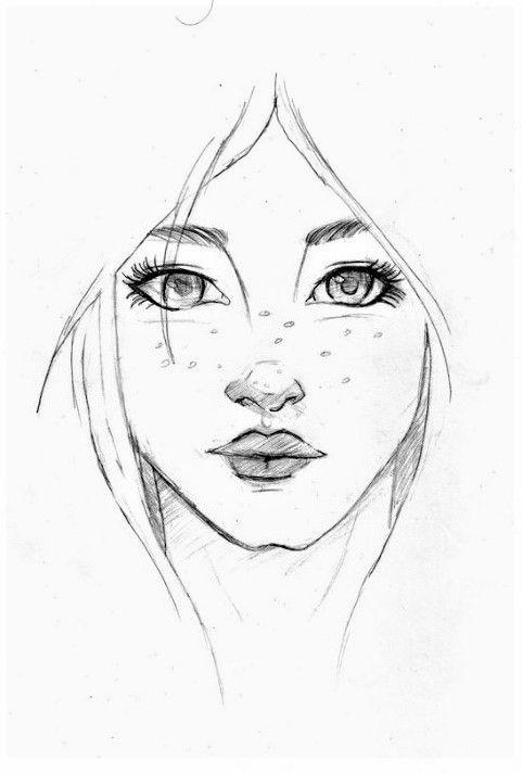 Dessin Blackandwhite Visage Face Tete Head Fille Girl Jolie Pretty Jeune Young Dessin Visage Comment Dessiner Un Visage Dessin De Visage
