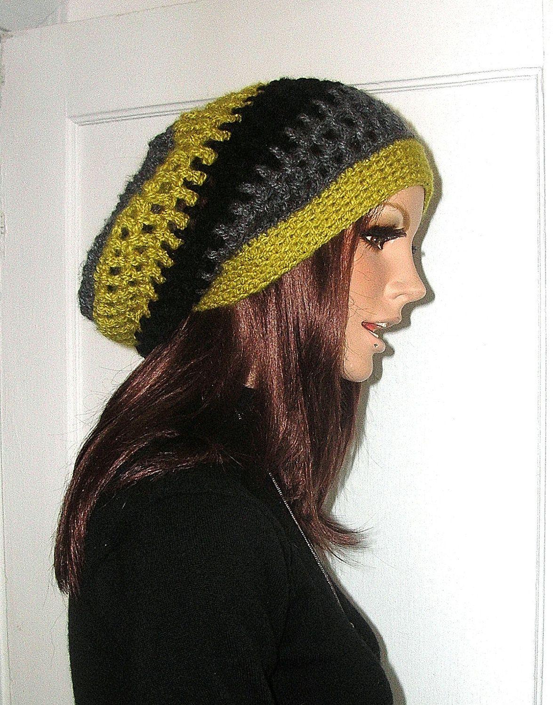 Crochet Rasta Slouchy Hippie Hat Dreadlocks by ...