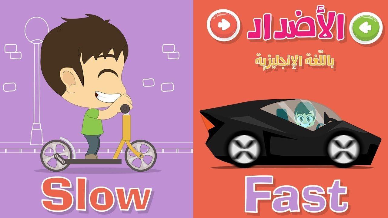 الأضداد بالإنجليزية للأطفال تعليم المفردات و عكسها باللغة الإنجليزية Learn English Vocabulary English Opposite Words Opposite Words