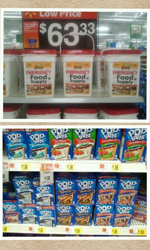 Emergency Food Supply vs. PopTarts.Not the healthiest, but appetite depression is a real deal in an emergency.