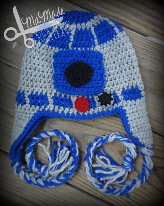 R2D2 Crochet Hat Newborn12 Months Made to Order by MaMadeCreations ...