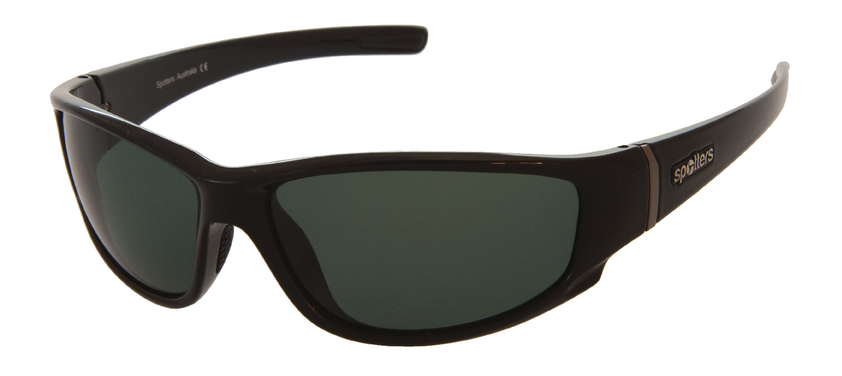 a6ae958ce1 Spotters Cristo Sunglasses - Cristo Stone Gloss Black With Polarised Lenses