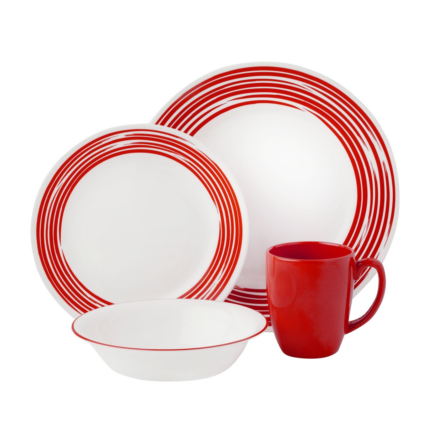 Corelle Boutique Brushed 16 Pc Dinnerware Set Redboutique