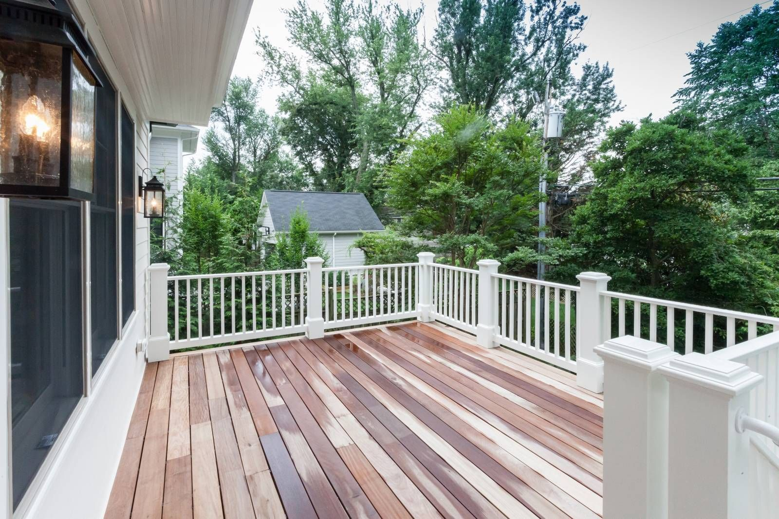 Deck Off Kitchen And Family Room Overlooking Private Back Yard Of