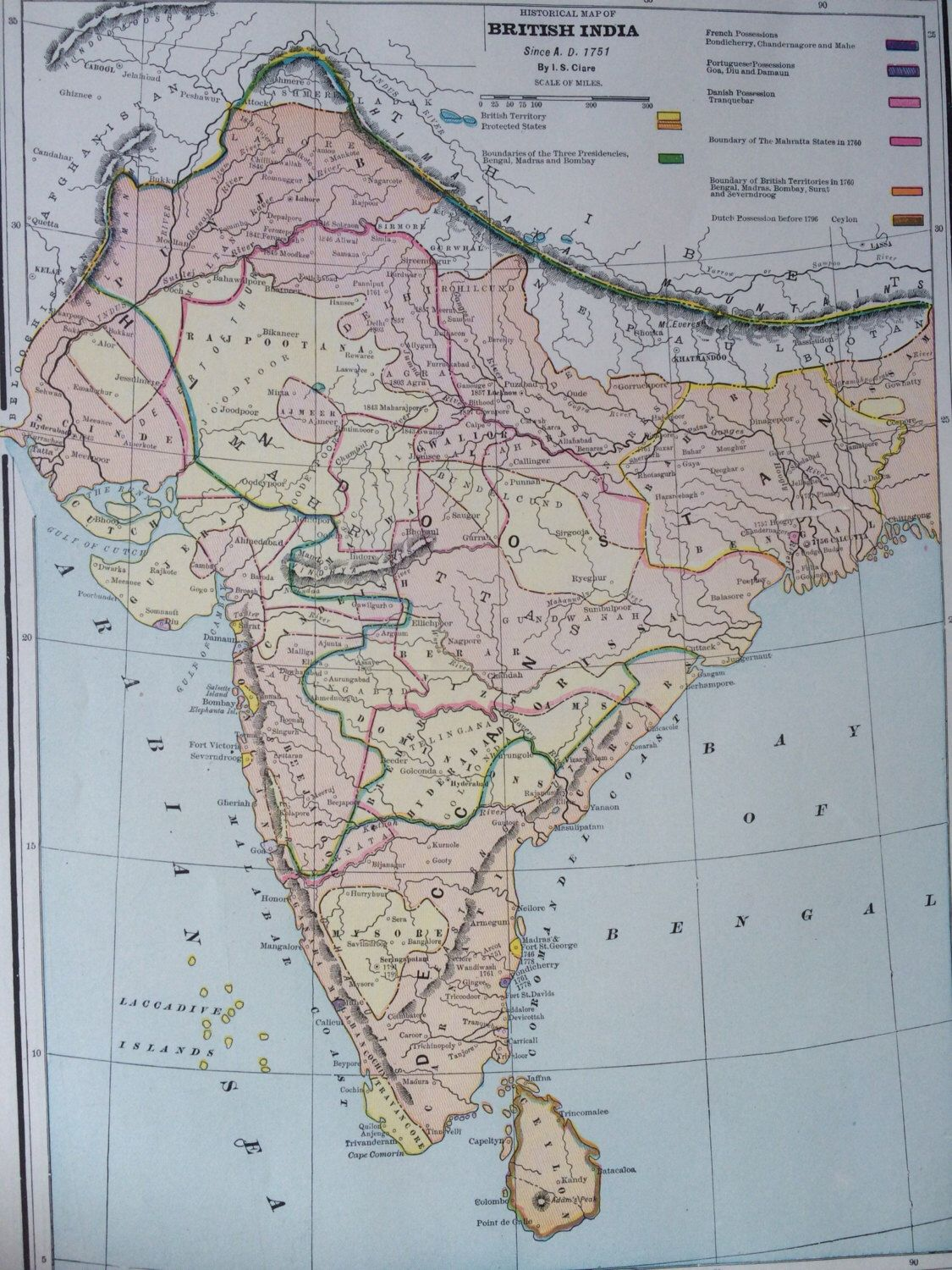 1936 historical british india since 1751 original vintage map 115 x 1936 historical british india since 1751 original vintage map 115 x 145 inches home decor gumiabroncs Image collections