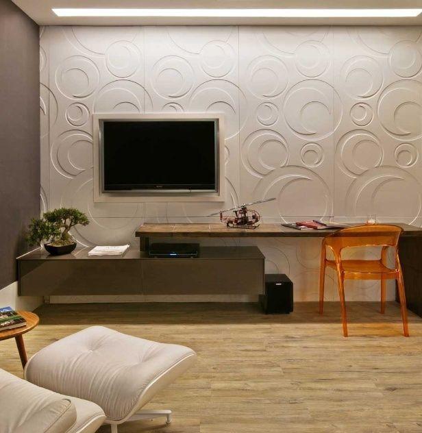 Imagem 29 fireplaces pinterest textura em parede for Wallpaper sala de estar