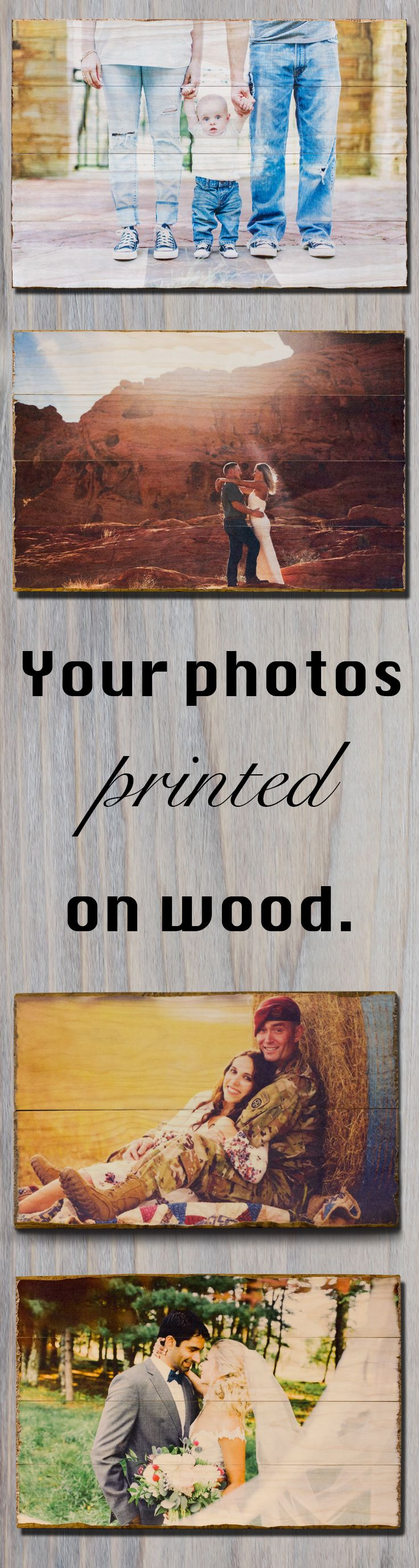Photo Pallet on Rustic Wood for 5th Anniversary Gifts for